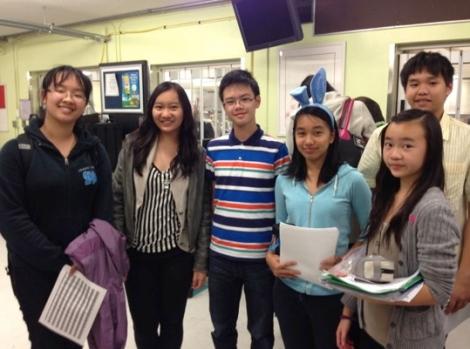 Palmer's Junior Debate Team & Student Coaches (L-R: Danlu L., Laura C., Michael T., Noreen V., Sarah C. & Morris H.)
