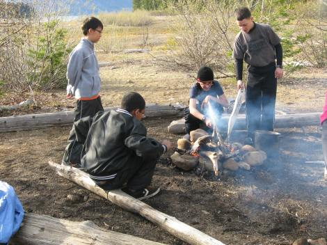 Learning to build a campfire