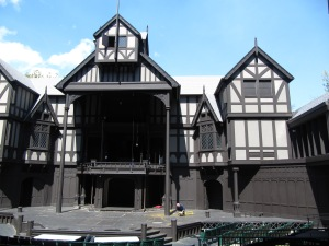 Backstage tour of the outdoor Elizabethan Stage Theatre