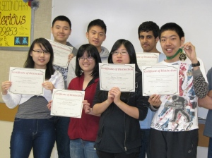 2012 Cayley and Fermat Top 25% Certificate Award winners