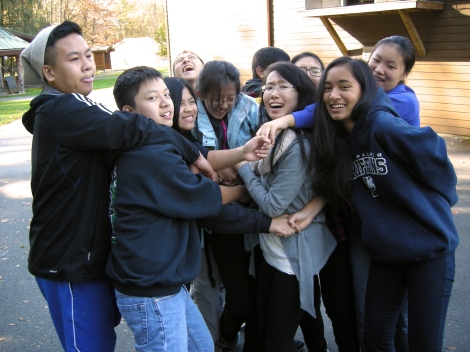 A real team-builder: The Human Knot.