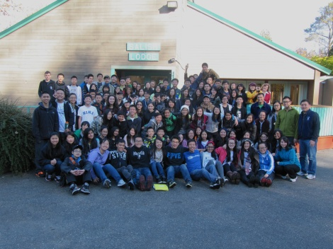 Group photo before heading home Friday; happy Palmer campers (although a little sad to leave camp!).