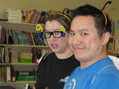 """""""CORNTOS"""" Team Managers/Coaches Ms. Henrickson and Mr. Chan are buzzed about their team's performance!"""