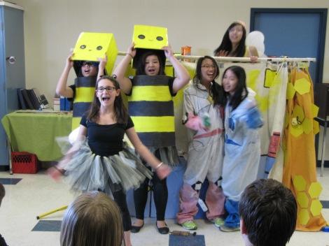 """CORNTOS"" team members Bianca, Jana, Selina, Rachel, Queenie and Maggie present their Team Challenge."