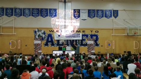 Opening Ceremonies with Welcome Address by Palmer Principal Mr. Steward.
